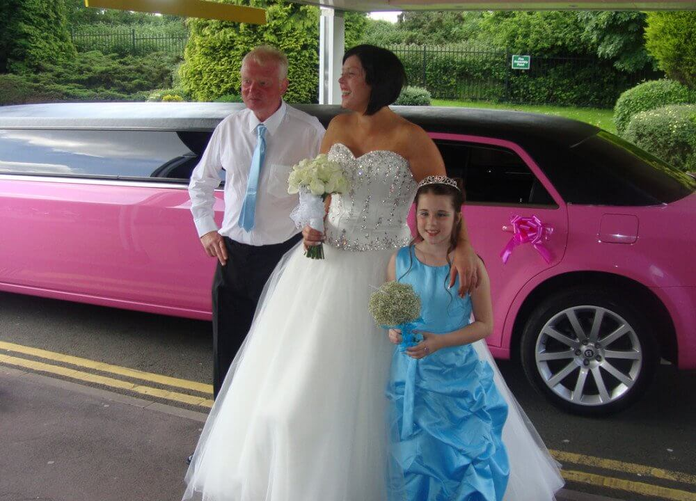 pink-wedding-limo